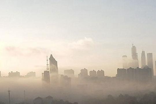 南宁云雾缭绕宛如仙境