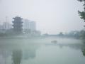 蒙山烟雾缭绕宛如仙境