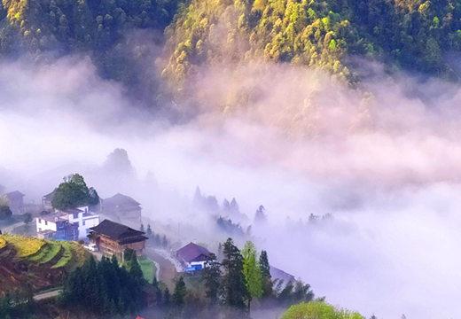 龙胜云雾绕如世外桃源