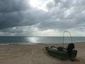 涠洲岛上空乌云密布