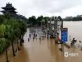 中国天气网广西站讯 昨天(12日)开始,桂林遭遇新一轮强降雨天气。截止到今天白天桂林市城区普降大暴雨、局地降雨量达到特大暴雨量级。市区多处内涝严重,解放桥下由于河水倒灌,积水最深达到一米,交通中断。此外,普陀路、万福路、会仙路等部分路段积水严重。(图文/胡静)