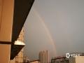 中国天气网广西站讯 今天(20日)傍晚时分,一场狂风暴雨过后,南宁的上空出现了两道彩虹,蔚为壮观。(文/周玉 图/韦坚)