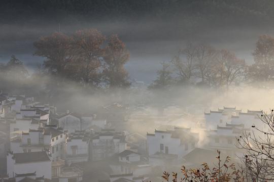 婺源石城迷雾宛如仙境