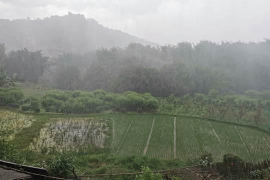 贺州昭平下起倾盆大雨