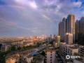 图为彩虹点亮城市的清晨。(图/李斌喜 文/韦嘉铭)
