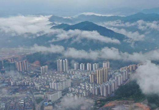 广西三江 云雾缭绕侗城美
