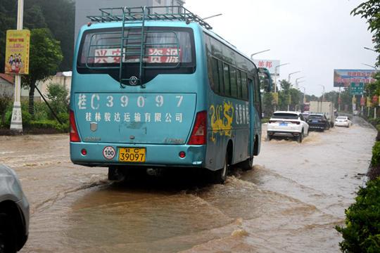"""资源暴雨致农田变""""河塘"""""""