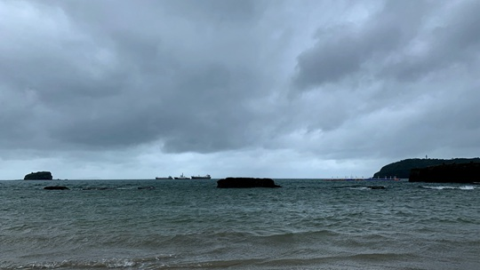 台风来袭涠洲严阵以待