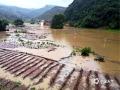 中国天气网广西站讯 6日夜间到7日早上河池普降中到大雨,部分地区出现暴雨到大暴雨,局地特大暴雨,强降雨主要集中在环江县境内,为今年以来强度最大、范围最广的强降雨天气过程。截止7日上午,环江县的大才乡、长美乡、思恩镇出现了不同程度的洪涝灾害。图为:环江大才乡新坡村白山屯农田被淹(文/李严萍 梁丽娜 吴雨婧 图/陈耀飞)