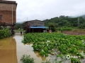 中国天气网广西站讯  受高空槽、低涡切变线及切变线及弱冷空气共同影响,6日夜间到7日早上河池普降中到大雨,部分地区出现暴雨到大暴雨,局地特大暴雨,强降雨主要集中在环江县境内,为今年以来强度最大、范围最广的强降雨天气过程。环江县的大才乡、长美乡、思恩镇出现了不同程度的洪涝灾害。图为:环江长美社区祥洞屯被大水淹,道路被阻(文/李严萍 梁丽娜  吴雨婧  图/陈耀飞)