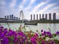 """中国天气网广西站讯 今晨""""斑马纹""""状的天空扮靓邕城,坐标青山大桥北。(图/老曾)"""