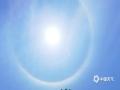 图为4月30日融安上空出现的日晕。(图/郑红)