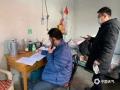 图为石家庄平山气象局对家属院人员进行电话摸排(图/王晨)