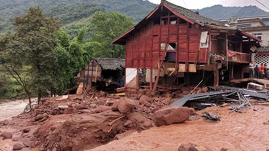 雅安特大暴雨致各区县受灾严重