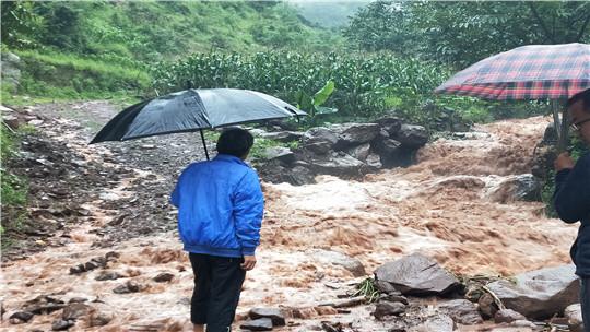 """云南大姚县""""雨一直下""""  致多地发生山洪、泥石流"""