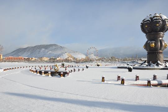 瑞雪兆丰年 香格里拉迎来2020年首场暴雪