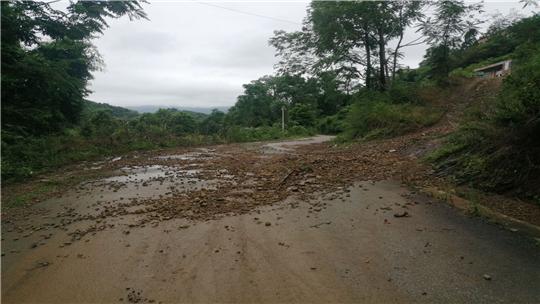 强降雨袭富宁 多地发生地质灾害